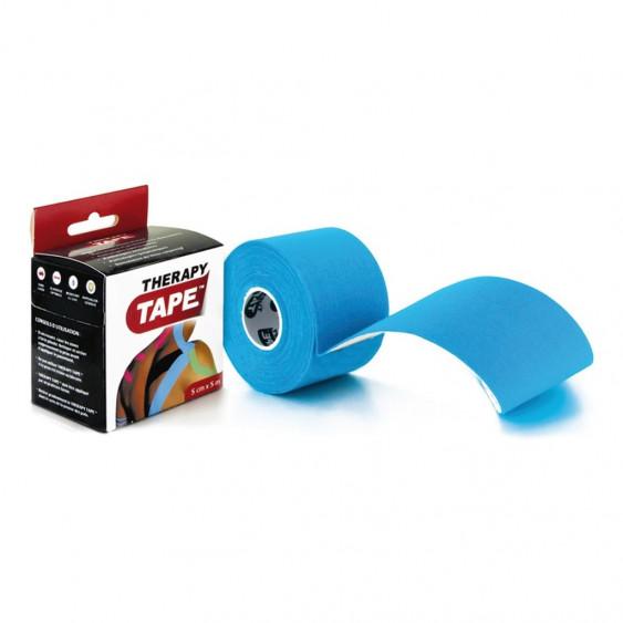 Bandes de taping Therapy Tape 5cm x 5m Bleu