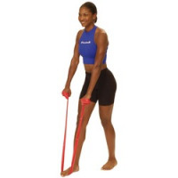 Thera Band - Bandes d'exercice Rouge 5,5 m