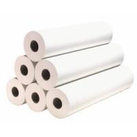 Drap d'examen blanc KLINION 60x120 cm - 36 g/m2 - carton de 8 rouleaux