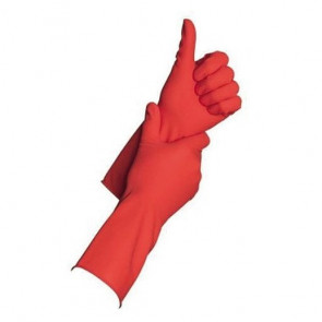Gants de ménage Merbach en latex – Rouge - Taille S