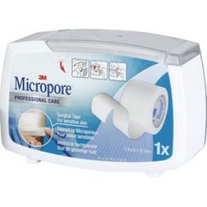 Micropore blanc sur dévidoir hermétique - 9,14 m x 2,5 cm