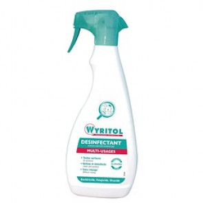 Spray nettoyant désinfectant Wyritol - flacon 750 ml
