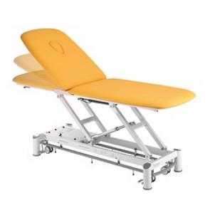 Table de massage Ferrox 2 plans Picasso XL avec cadre de commande et roulettes - couleur tundra