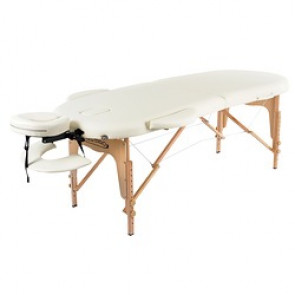 TABLE DE MASSAGE PLIANTE CLASSIC OVAL 2 CREME