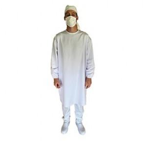 Sur-blouse blanche en tissu lavage - SNV