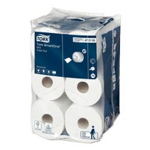 Tork SmartOne Mini Papier Toilette 12 Rouleaux  - T9 - 2plis, 620 feuilles