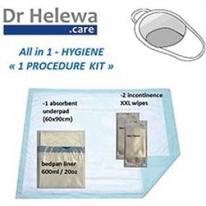 Kit hygiène pour bassin de lit